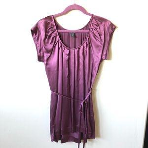 Kenneth Cole • NWOT Purple Silk Charmeuse Blouse